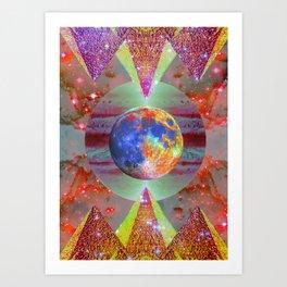 ☪elestial Pyramids Art Print