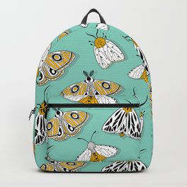 MAGIC MOTHS on Turquoise Backpack