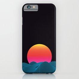 Computer sundown iPhone Case