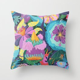 The Double Bee Throw Pillow