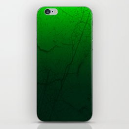 Cracked Green iPhone Skin