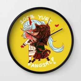 100% Yuri fangirl Wall Clock