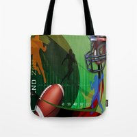 football Tote Bags featuring Football by Robin Curtiss