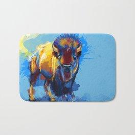 On the Plains - Bison painting Bath Mat