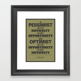 Pessimist / Optimist Framed Art Print