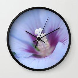 Soft Purple Hibiscus Flower #1 #art #society6 Wall Clock