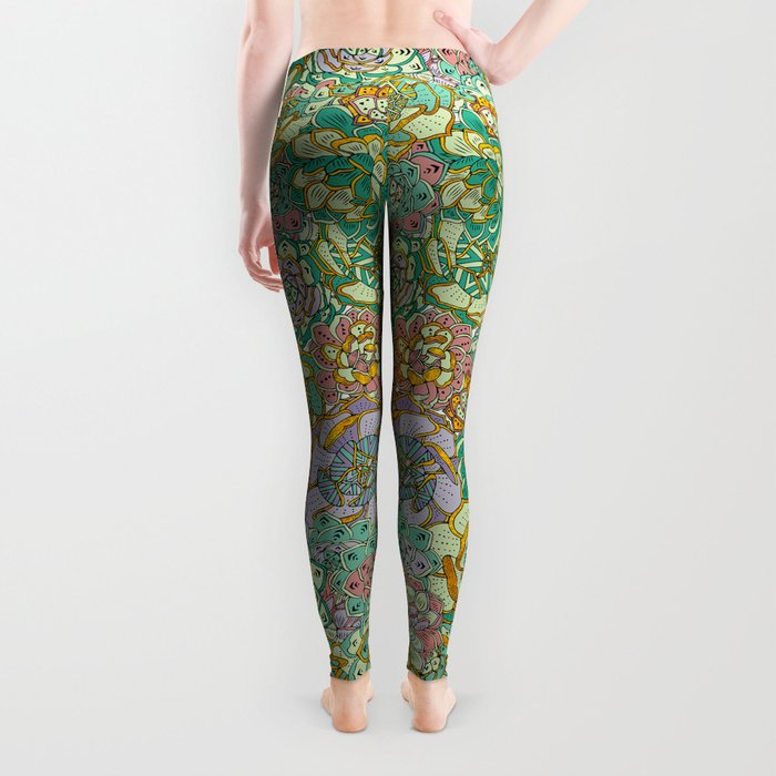 Blooming Succulents Leggings