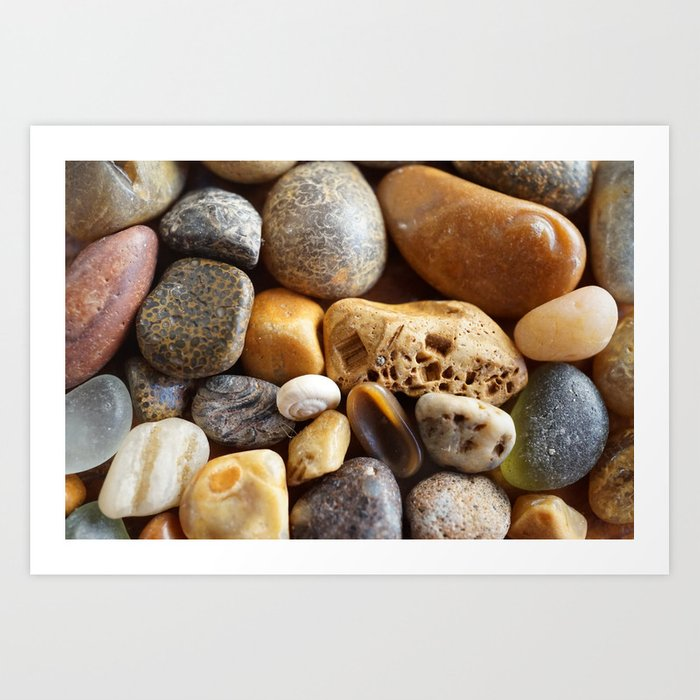 Pebbles on a Beach Art Print