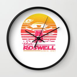Roswell UFO conspiracy theory Area 51 gift Wall Clock