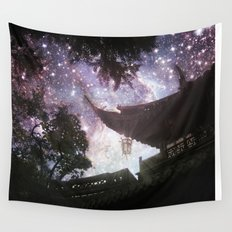 By Lantern Light and Starlight Wall Tapestry