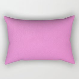 Solid Pink Rectangular Pillow