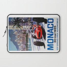 Grand Prix Monaco, 1965, vintage poster, race poster Laptop Sleeve