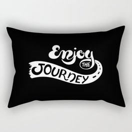 Enjoy The Journey(Black) Rectangular Pillow