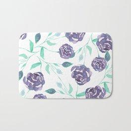 Purple Rose Bush Bath Mat