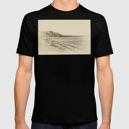 Tranquil bay view in sepia T-shirt