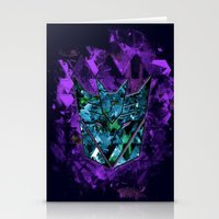 transformers Stationery Cards featuring Decepticons Abstractness - Transformers by DesignLawrence