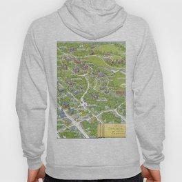 DENISON University map GRANVILLE OHIO Hoody