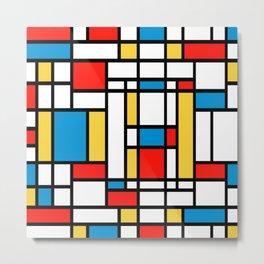 Tribute to Mondrian No2 Metal Print