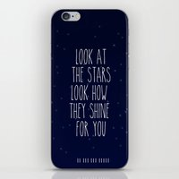 coldplay iPhone & iPod Skins featuring Look How They Shine For You by Adel