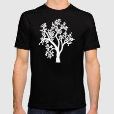 Solo Tree White on Black MEDIUM Black Mens Fitted Tee