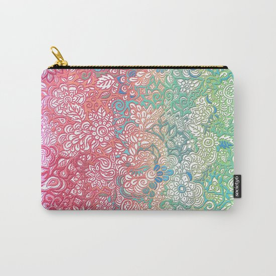 Soft Pastel Rainbow Doodle Carry-All Pouch