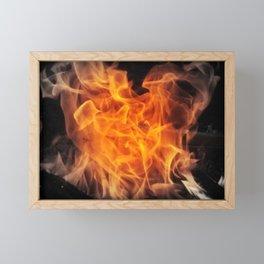 Heart of Fire Framed Mini Art Print