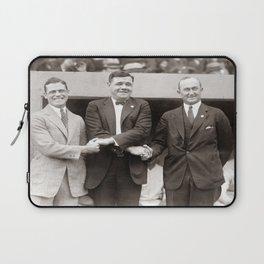Babe Ruth, George Sisler, Ty Cobb  Circa 1924 Laptop Sleeve