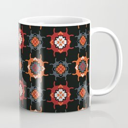 Abstract Geometric Folk Doodle Shapes Coffee Mug