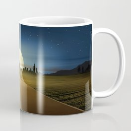 Woman on the road Coffee Mug