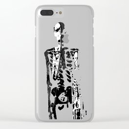 Dr. Hughes And The Skeleton In His Classroom Clear iPhone Case