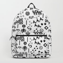 Peoples Story - Black on White Backpack