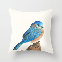 Blue Bird Throw Pillow