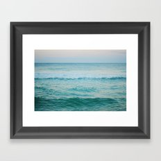 only the ocean Framed Art Print