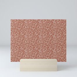 Abstract Crescent Shape Moon Pattern Pairs With Sherwin Williams Color of The Year 2019 Cavern Clay Mini Art Print
