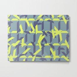 trapezoids grid pattern_pigeon Metal Print