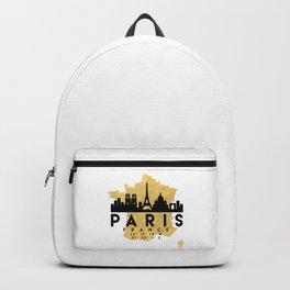 PARIS FRANCE SILHOUETTE SKYLINE MAP ART Backpack