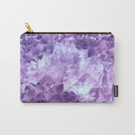 Bright purple quartz crystal cluster Carry-All Pouch