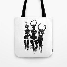 3 horned girls Tote Bag