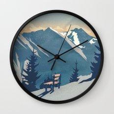 Mountain Sunrise (Pause II) Wall Clock