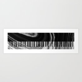 Modern Art Black And White Piano - Sharon Cummings Art Print