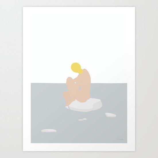 KVINDE PÅ HAVET No.01 Art Print