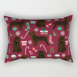 Boykin Spaniel christmas pattern dog breed presents stockings candy canes Rectangular Pillow