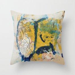 blue cat home Throw Pillow