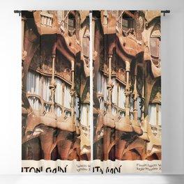 Antoni Gaudi Exhibition poster 1979 Blackout Curtain