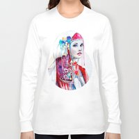 the national Long Sleeve T-shirts featuring  Bulgarian national costume by Slaveika Aladjova