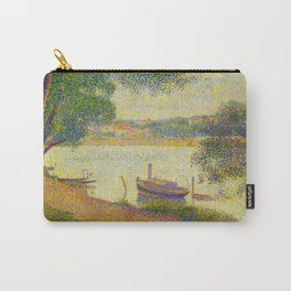 Gray weather Grande Jatte 1888 Oil Painting Pointillism Post-Impressionism Impressionism Modern art Carry-All Pouch