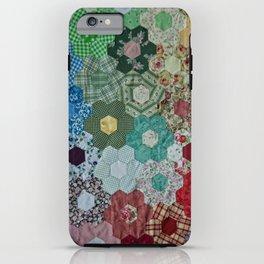 patchwork-design iPhone Case