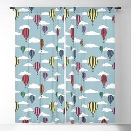 Colorful hot air balloons Blackout Curtain