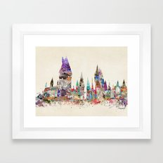 hogwarts school of magic Framed Art Print