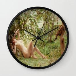Springtime Awakening : Nude Art Wall Clock